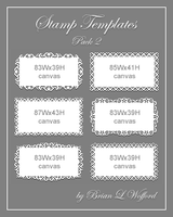 Stamp Templates Pack 2 by TheLoveTrain