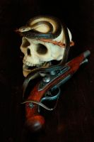 Snake,Skull and Pistol by apocryph