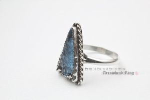 Blue Arrowhead Ring - Commission by DanielAPierce