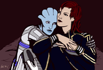 Liara and Jane by Ajmone