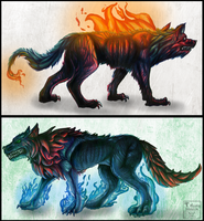 Wolves of Flame by Taluns
