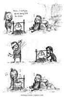 Daily life of Thoros of Myr and Beric Dondarrion: by evonsartcave