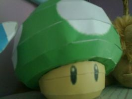 1up mushroom papercraft by aardonix