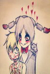 Bonnie X Chica: my bloody lover by creepy-lil-girl