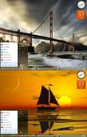 Win7 Bridges And Sailboats Theme by KeybrdCowboy