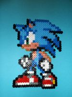 Sonic *0* by Perler-Beads-S