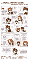 Artist Interview Comic 01 by SoliaArtTeam