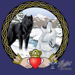 Wolf Claddagh Tattoo Design by jayfrench