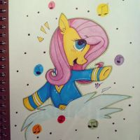 Ponytone Fluttershy by bloodyhellhayden
