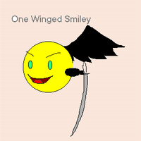 One Winged Smiley by sodoshiin
