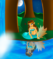 At the Lakeside by kiki-the-cat