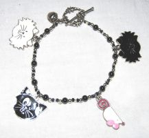 Kitty Bracelet by themagpiesnest