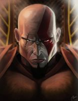 Kratos , The God of War by kinwii