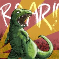 Dino-roar by Snackbot
