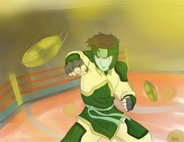ToK my OC Earthbender: Kai Di-Long PRO BENDING! by GonChan01