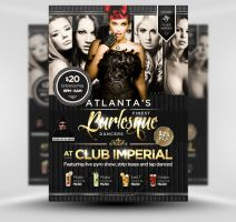 Burlesque Flyer Template by quickandeasy1