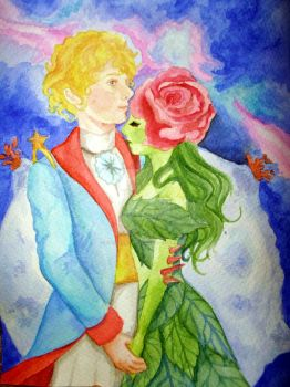 The Little Prince and the Rose by andreaamavizca