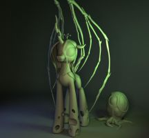 Queen of Blades WIP (stage 3d) part 4b by Temporal333