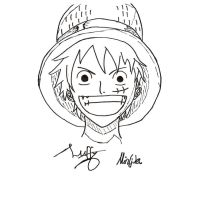 Monkey D Luffy by Pfauenfee