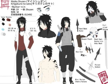 Maiko Shuzen Reference Sheet|Character Concept by xxpentimaticxXx