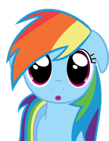 Rainbow Dash O.O Vector by RainbowDash038