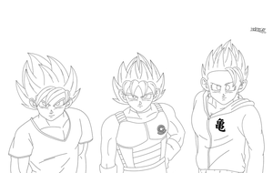 Doce Juventude lineart by HelvecioBNF