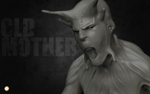 OLD MOTHER_ WALLPAPER by TheFrisbeeman