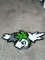 Skymin Perler beads sprite head by Aqws7