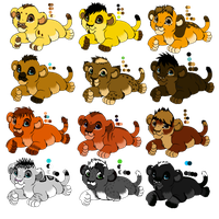 Male Cubs For Adopt (1 LEFT ) by NiaWolf15
