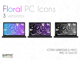 Floral PC Icons by guemor