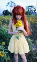 Asuka Langley Soryu Cosplay - Yellow Sunflowers by SailorMappy