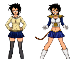Sailor Vegeta by TheMightFenek
