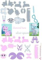 diamond tiara and silver spoon papercraft by DryRouteToDevon