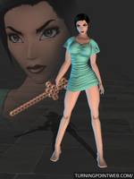 Fear Effect Inferno - Hana Tsu Vachel Gown for XPS by FearEffectInferno