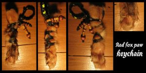 fox paw keychain sold by WolfRoad