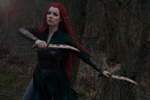 Tauriel Captain of the Mirkwood Guard by F-elicia