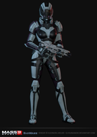 Female Human Engineer - Mass Effect Multiplayer by elyhumanoid