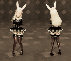 Elin (New Maid outfit) Black by h0mez