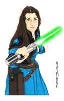 Jedi Knight Jaina Solo by NORVANDELL