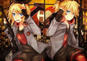 Rin and Len: Unhappy Refrain by SquChan