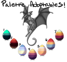 Pick Your Palette - Dragon Adoptables! [CLOSED] by CoyoteAdopts