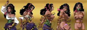 The evolution of Esmeralda by BlackProf