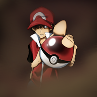 PkmnTrainerRed wants to battle by tsunami-dono