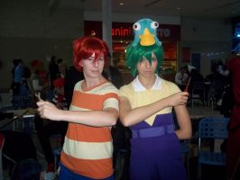 Phineas and Ferb Cosplay by KoreeluStromboli