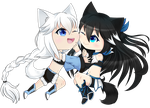 Wolf Sisters by WhiterStar
