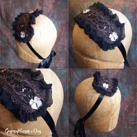 Gothic Lolita Bonnet in Black by che4u