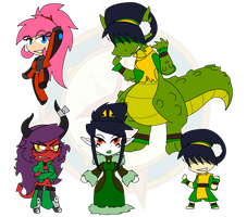 Assorted Chibis - Set 5 by Dragon-FangX