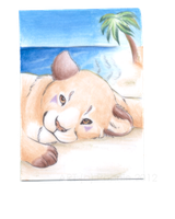 Summer Holiday - ACEO Trade by PoonieFox