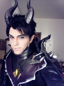 Maleficent Genderswap Cosplay, Sakimichan Design by hakucosplay