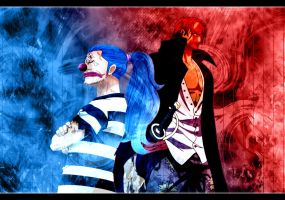 One Piece Red and Blue by EdgeWolf30